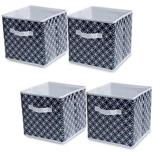 Delta Children 4-Pack Deluxe Water-Resistant Storage Cubes, Infinity/Navy