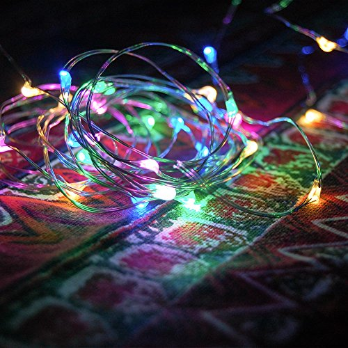 100 Mini LED - 10-Meter (30 Ft) Multi-Color Multi-Mode String Light Battery Powered Remote. Fairy/Christmas/Wedding/Outdoor LED Lights