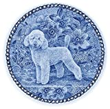 Poodle - Toy / Lekven Design Dog Plate 19.5 cm /7.61 inches Made in Denmark NEW with certificate of origin PLATE #7392