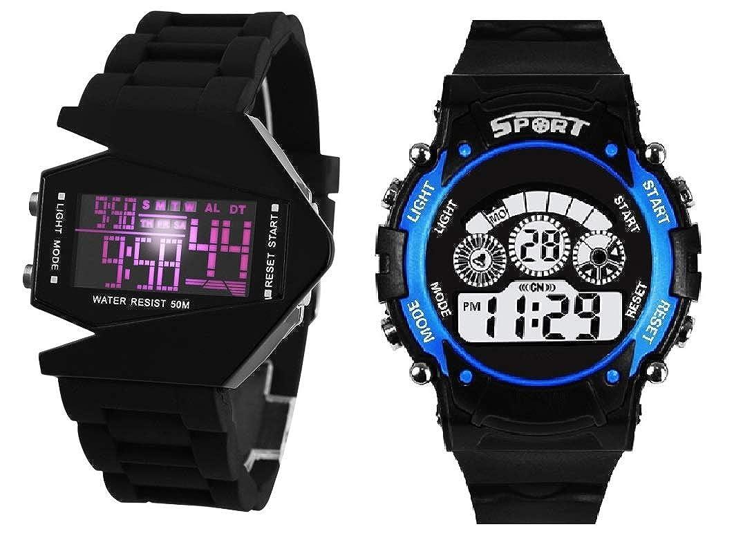 SWADESI Digital Multicolored watch