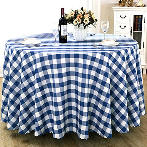 Round Premium Plaid Tablecloth for Wedding Banquet Restaurant Party Holiday Dinner Polyester Fabric Table Cloth Multi Colors Size,1pcs