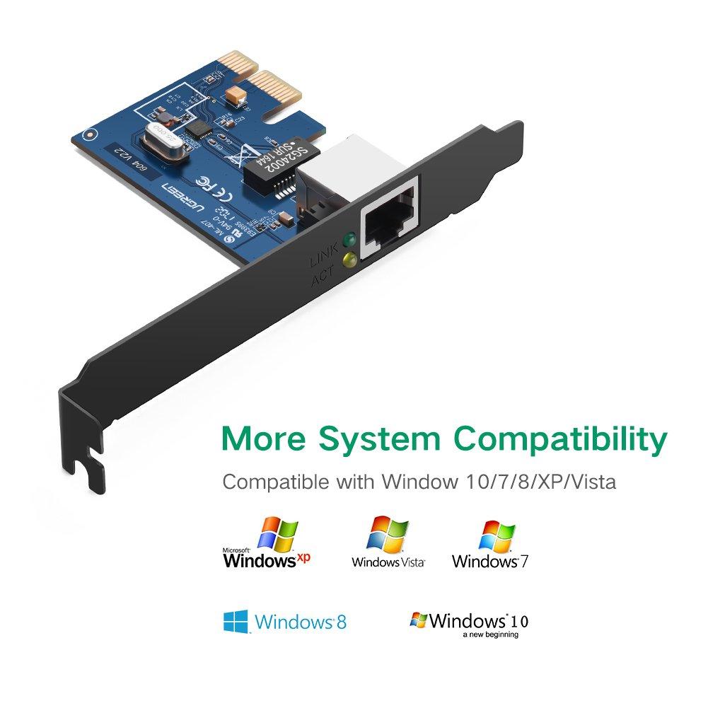 UGREEN Gigabit Ethernet PCI Express PCI-E Network Controller Card 10/100/1000Mbps RJ45 Lan Adapter Converter for Desktop PC by UGREEN (Image #3)