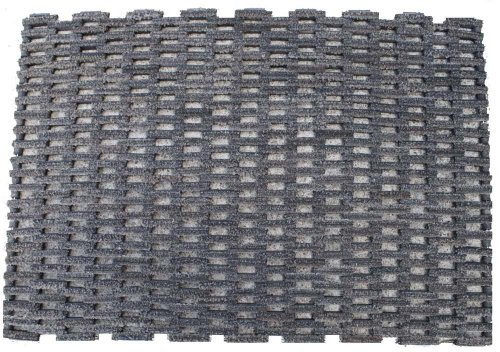Durable Dura-Rug Recycled Fabric Tire-Link Outdoor Entrance Mat, 24