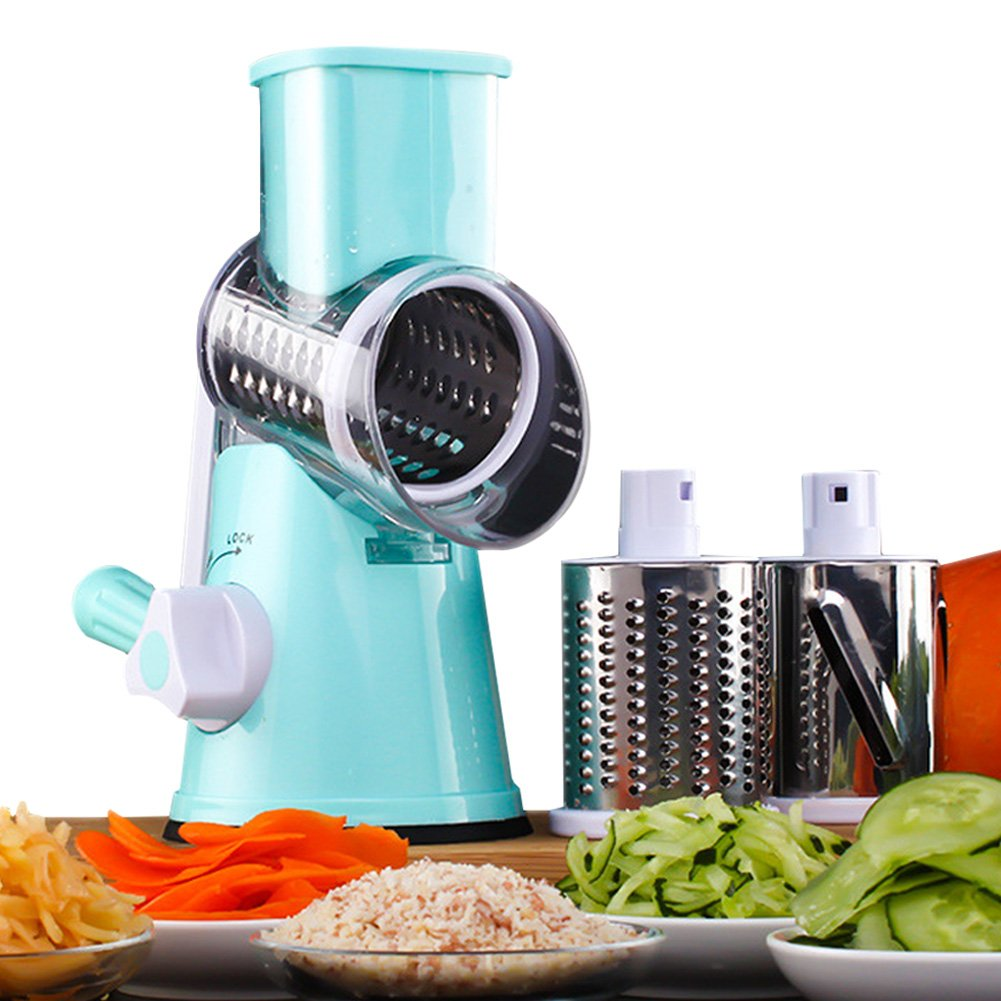 Amazon.com: VOSHI Manual Vegetable Cheese Cutter Drum Grater ...