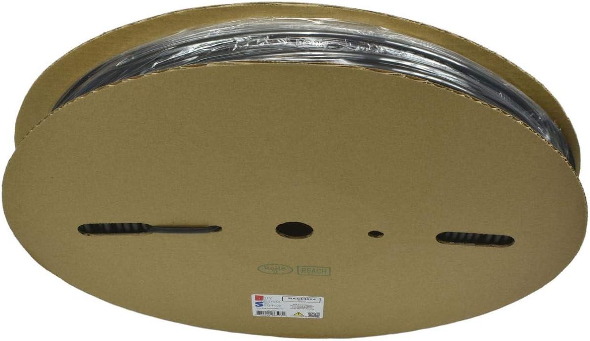 3//16 Black Single Wall 2:1 Heat Shrink Tubing - 328 Foot Roll Buy Auto Supply # BAS13824-5mm