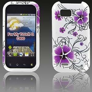 LG C800 (MyTouch Q) Purple Petal Flower Protective Case