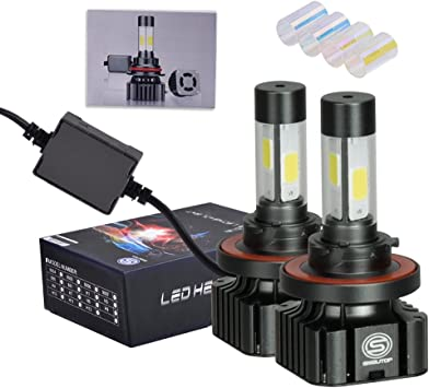 9005 HB3 LED Car Headlight Bulbs,Extremely Bright Light COB Chips 80W 8000 Lumens 6000K Cool White Halogen Replacement Conversion Kit