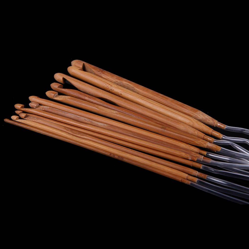 Anself 1.2m 48 12 Taglie afghano tunisino carbonizzati di bamb/ù uncinetto Ganci 3.0-10.0mm