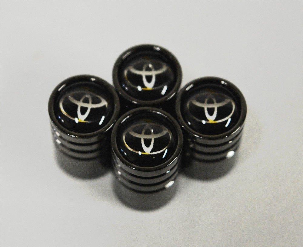 Black Chrome MYLMSM Auto Car Wheel Tire Air Valve Caps Stem Cover For Toyota