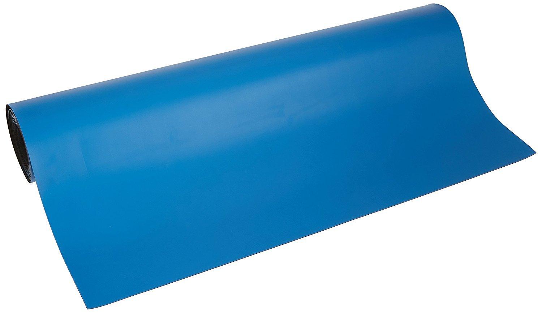 Bertech Rubber ESD Soldering Mat Roll, 2' Wide x 33' Long, Blue