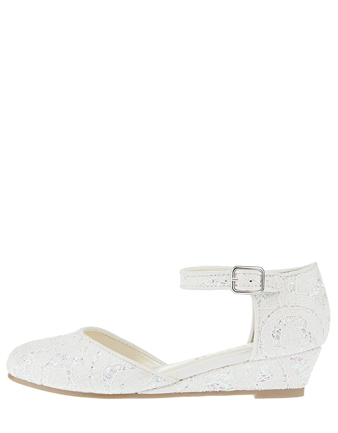 e3d64a3d7 Accessorize Crystal Iridescent Lace Wedge Shoes - Girls