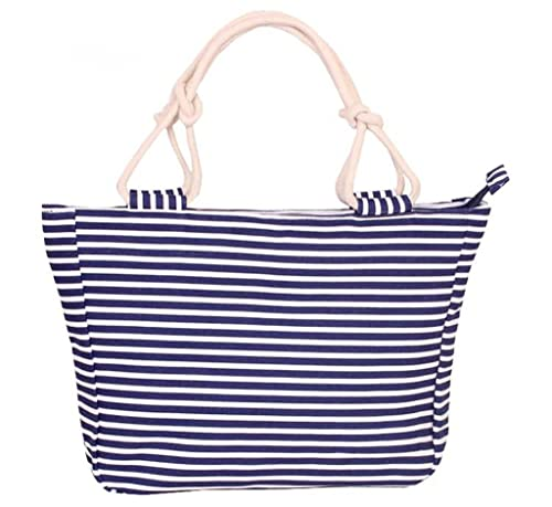 ad4522aad1c4 Fieans Womens Ladies Fashion Colorful Stripe Canvas Handbag Tote Bag ...