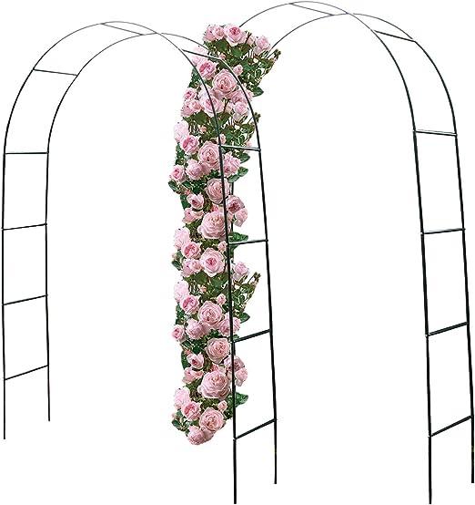 Juego de 2 Arcos para Rosales Resistentes a la Intemperie, Color Verde, 240 x 140 x 36 cm, de Metal con Recubrimiento de Polvo: Amazon.es: Jardín
