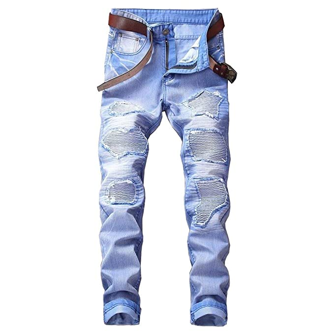 Jeans para Hombres Regular Denim Esencial Stretch Fit Mid ...