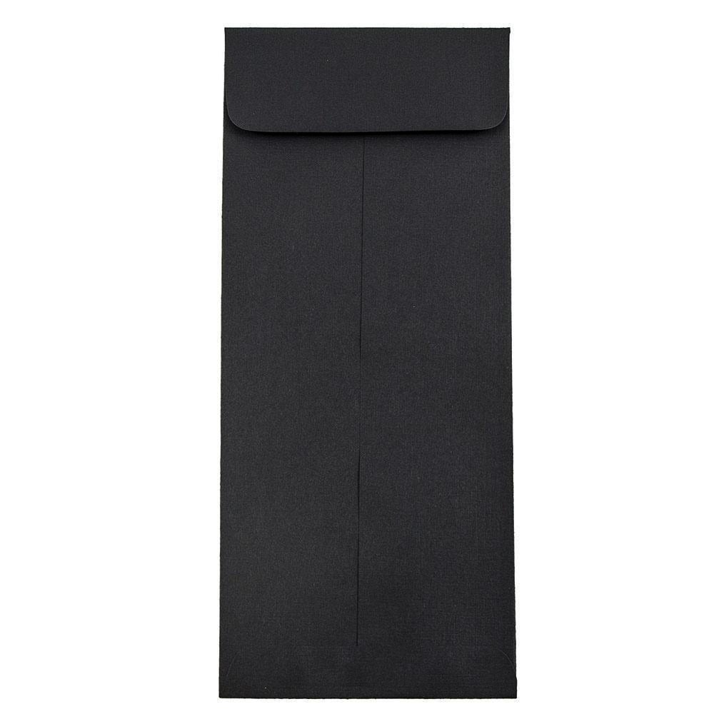 JAM Paper #11 Envelope - 4 1/2'' x 10 3/8'' - Black Linen - 50/pack
