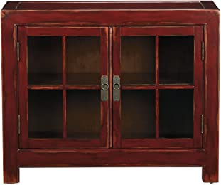 Ethan Allen Ming Small Media Cabinet, Aged Poppy