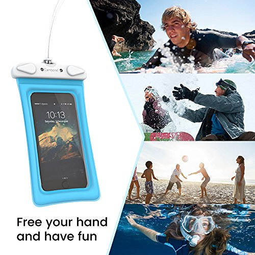 Cambond Waterproof Phone Pouch, Anti-break Lanyard, IPX8, Clear TPU, Fit for iPhone X/8/8P/7/7P, Samsung Galaxy S9/S8/S8P/Note 8, Google Pixel/HTC/LG, Up to 6.0'', Cruise Ship Kayak Accessories, 4 Pack by Cambond (Image #7)