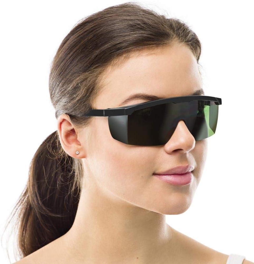 Nanssigy Gafas de Protección para Depilación HPL/IPL/Luz Pulsada,Gafas Depilacion Laser,Gafas Protectoras Depilacion,Gafas de Seguridad Ideal para Tratamientos con Láser y Fototerapia