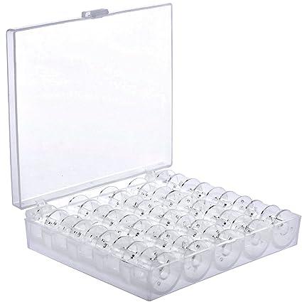 Bobinas de plástico transparente (25 unidades) de Sicai para máquinas