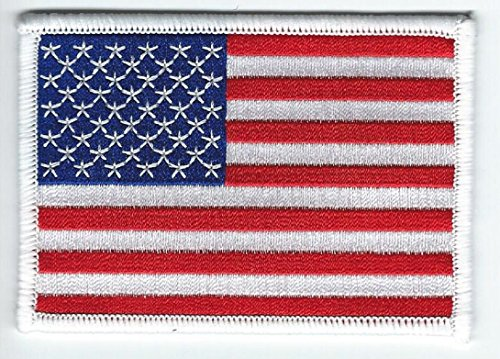 United States of America Flag Embroidered Patch USA - Iron-On or Sew - Top ()