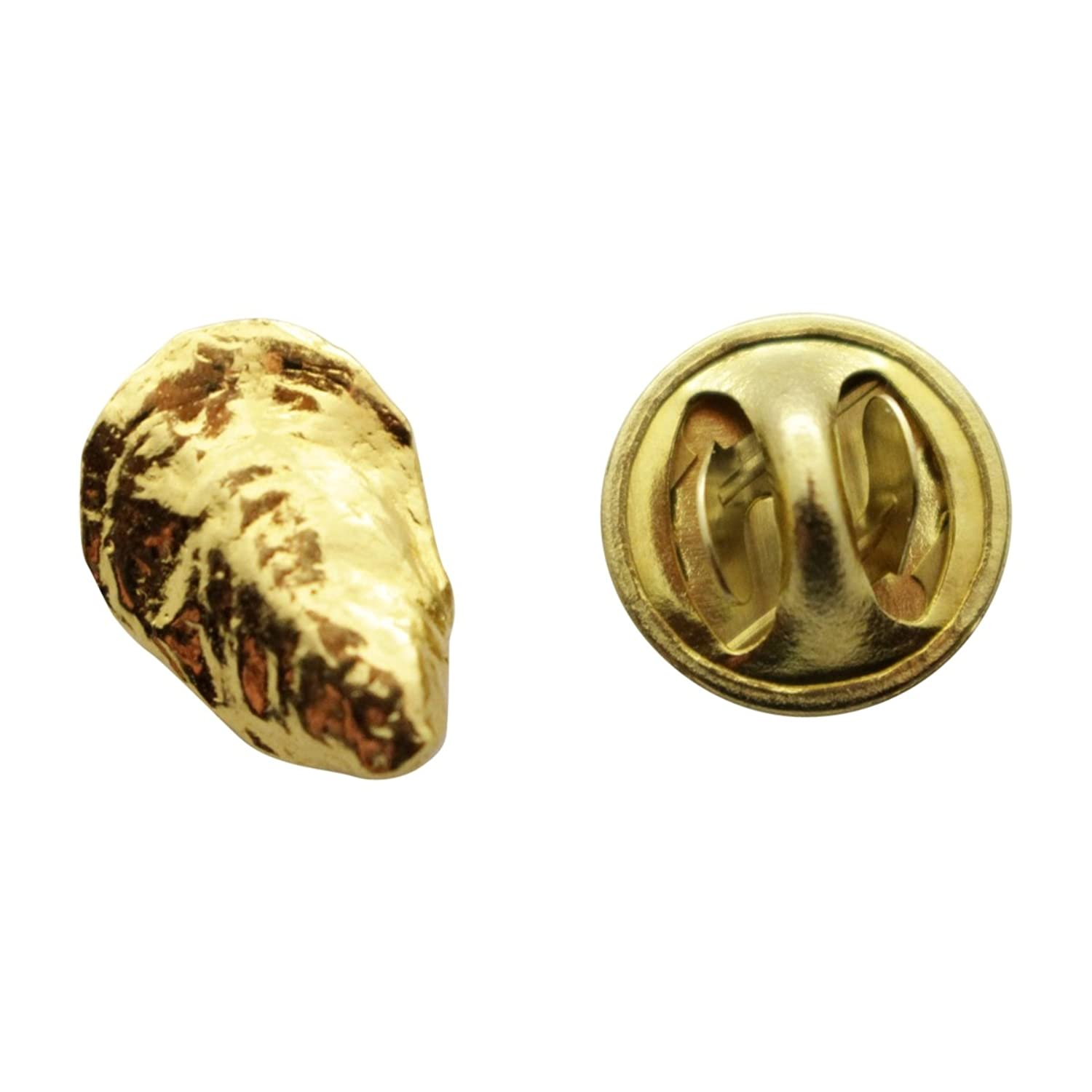 wholesale Oyster Mini Pin ~ 24K Gold ~ Miniature Lapel Pin ~ Sarah's Treats & Treasures for sale