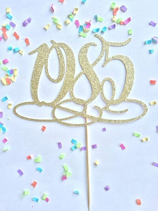 Decoración para tarta de año 1985, decoración para tarta de ...