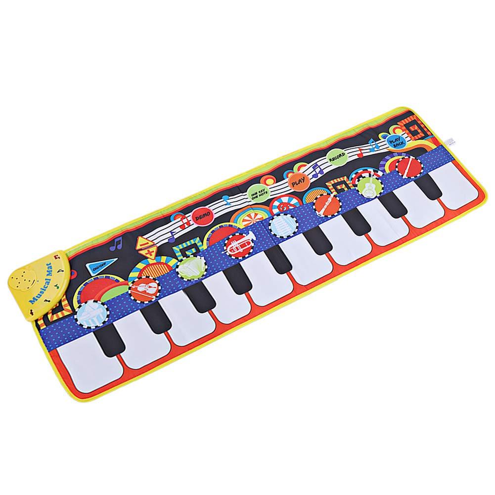 Yeenee 19 Keys Piano Play Mat Dance Musical Mat Kids Musical Floor Game Activity Blanket Cushion by Yeenee (Image #1)