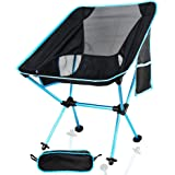 Camping Chair, IDEAPRO 150KG Capacity Lightweight Portable Outdoor Folding Chairs, Breathable Comfortable Backrest Seat Chair For Fishing, Hiking, Picnic, Travel