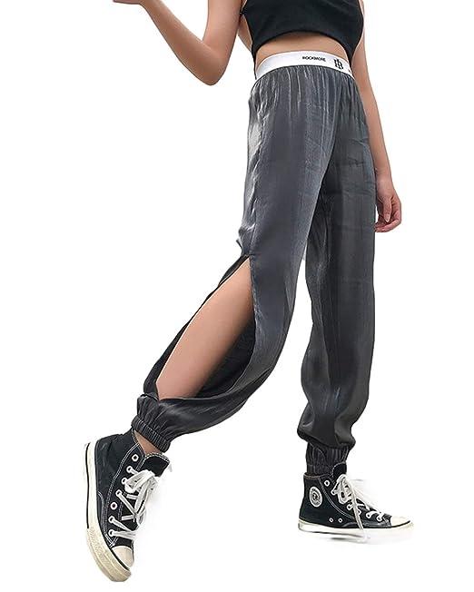 X-xyA Pantalones de harén para Mujer Pantalones de chándal ...
