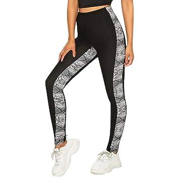 Amazon.com : Lefthigh Fashion Womens Snake Printing Splice ...