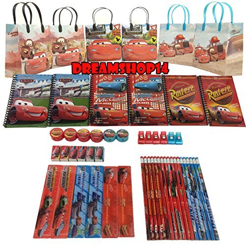 Disney's Cars Goody Bag Party Favor Stationery Set (54 pc)
