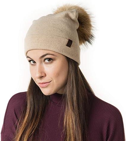 FURTALK Winter Knit Wool Slouchy Beanie for Women Cashmere Blend Hat Ski Cap