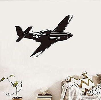 Etiqueta De La Pared Avión Etiqueta De La Pared Aviones Aviones Papel Pintado De Vinilo Para Niños Habitación De Los Niños Decoración Del Hogar Arte Calcomanía 80x58cm Amazon Es Bricolaje Y Herramientas