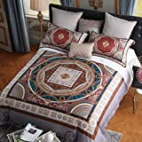 Luxury hotel quality 100% Extra-Long staple cotton bedding set 800 Thread count soft comfortable four piece duvet cover set -A Queen2