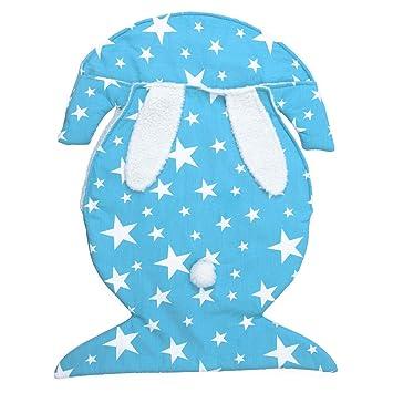 JSIHENA Saco Dormir Pies Mantas envolventes Bolsa de Dormir con Forma de Terciopelo y Terciopelo para bebé,Blue: Amazon.es: Deportes y aire libre