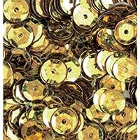 efco–Redondo de semicírculo Lentejuelas Holograma, 6mm, Dorado, 5G