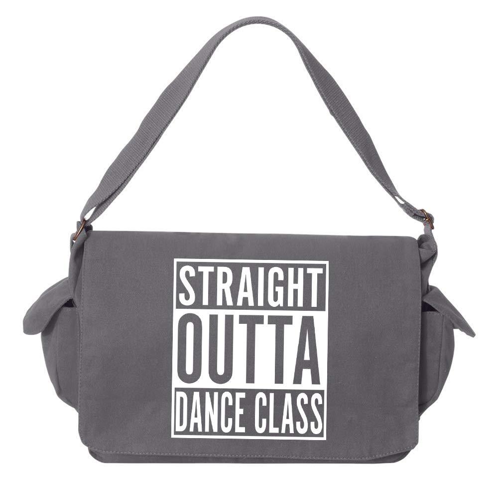 Tenacitee Straight Outta Dance Class Grey Brushed Canvas Messenger Bag