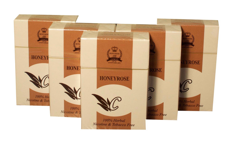 Honeyrose CHOCOLATE 5 Packs - Tobacco & Nicotine FREE Herbal Sticks, Pack of 20, MADE In ENGLAND, FREE SHIPPING!