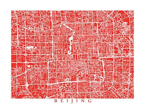 Beijing Print Poster (Beijing Map Print)