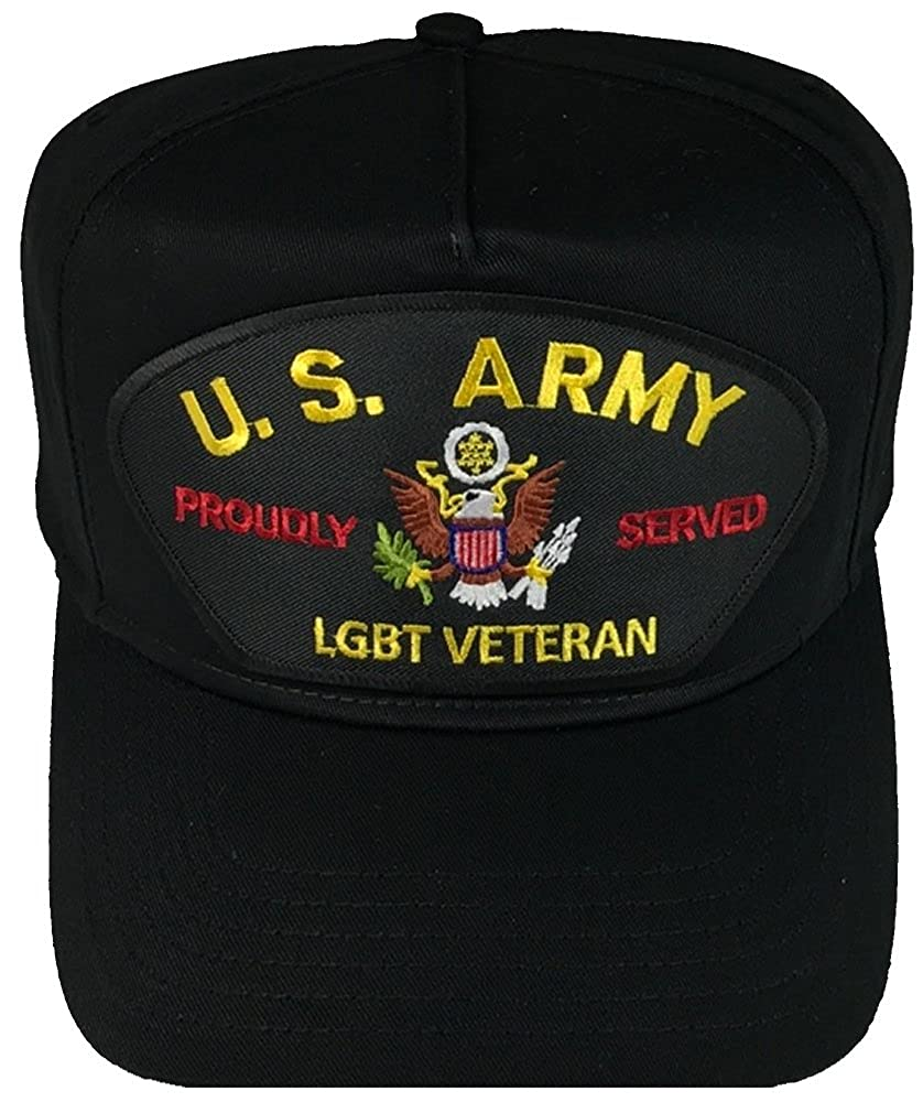 Black HnP US Army LGBT Proudly Served Veteran Hat Veteran Owned Business