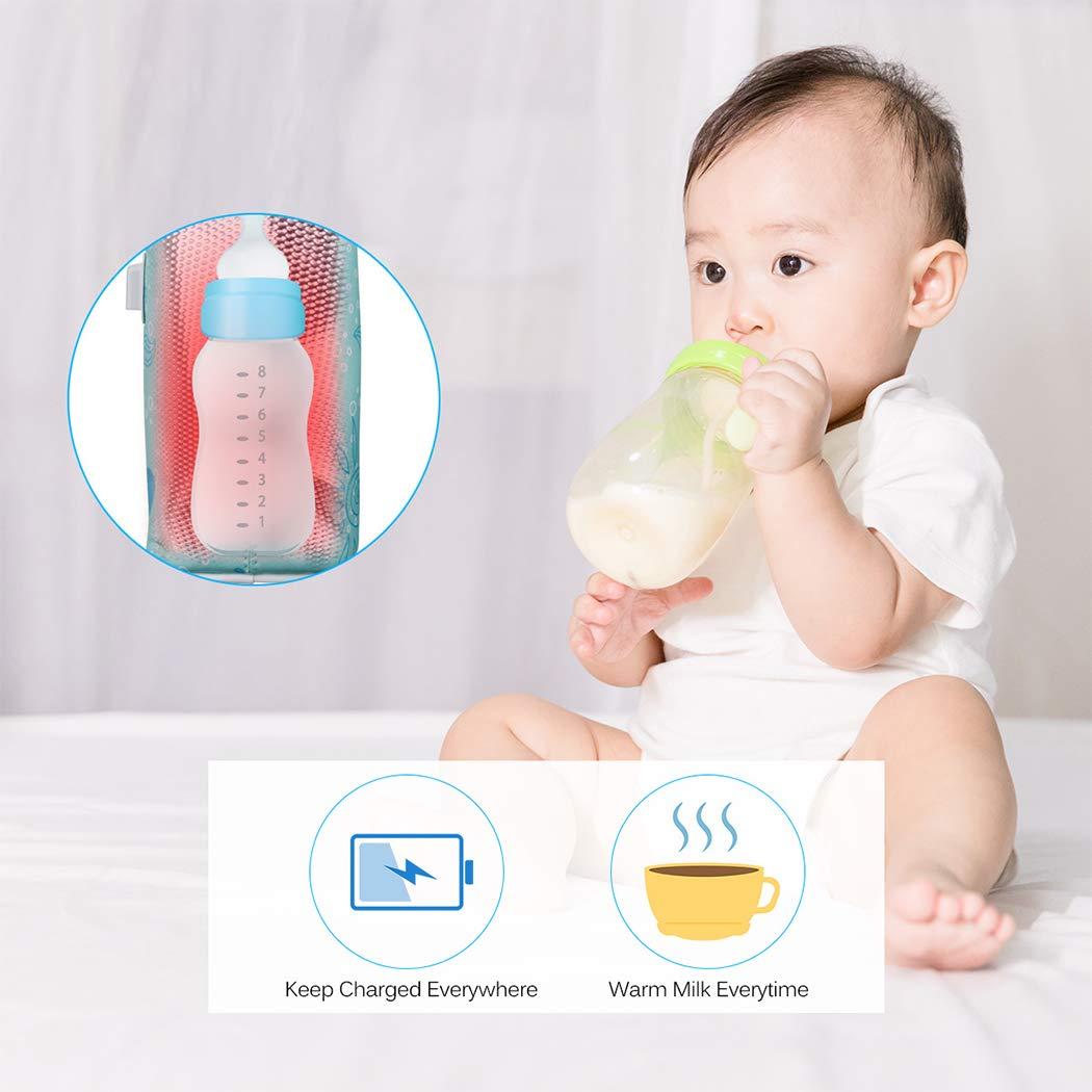 JUSTDOLIFE Baby Flasche W/ärmere Tasche Tragbare USB Angetriebene Trinkflasche f/ür Den Au/ßenbereich