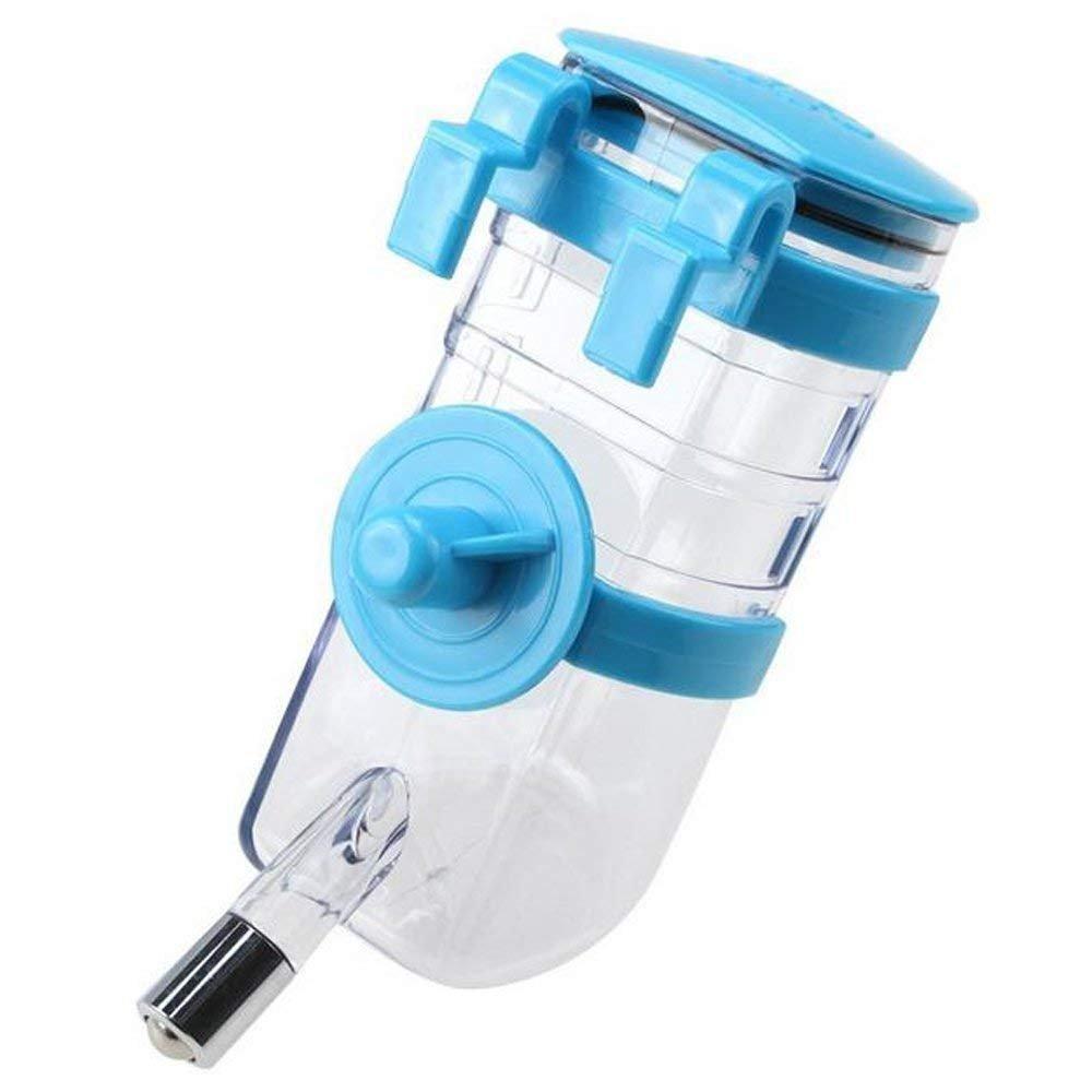 Ulable 350ML Pet Bouteille d'eau à Suspendre Fontaine à Eau Bouteille Automatique d'eau Potable Mangeoire pour Chien Chat Lapin Hamster