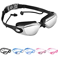 OPKALL All In One Adult Swimming Goggles with Earplugs (Multiple Colors)