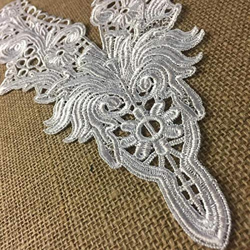 (Yoke Applique Venise Lace V-Neck Elegant Neckpiece Embroidery Collar, 14