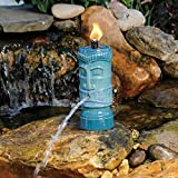 pond boss STIKIT Ceramic Tiki Torch Spitter, Turquoise