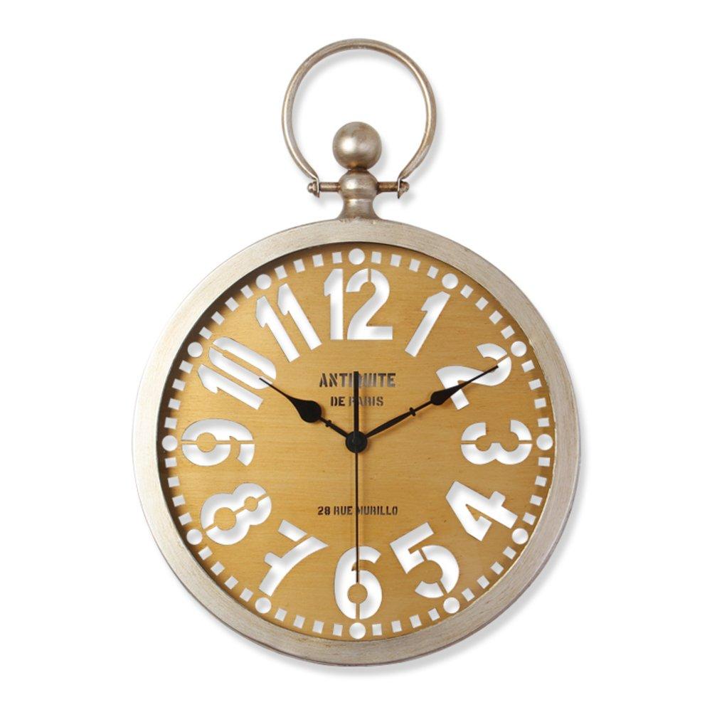 DULPLAY 金属 置き時計 掛け時計,石英スイープ 高級 サイレント 光で 北ヨーロッパ ヴィンテージ 性格 アルミ フレーム リビング ルームの壁 -C 14インチ B07D58YFRW 14インチ|C C 14インチ