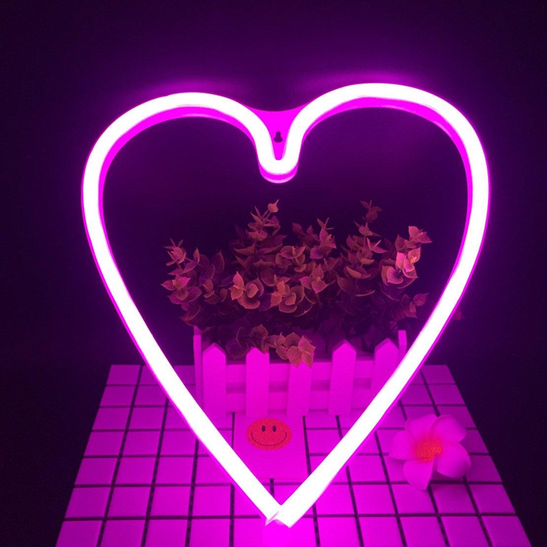 neon light led heart sign shaped decor light wall decor for