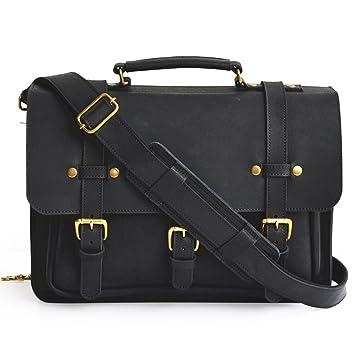 d91abd7258 Amazon.com  Marlondo Leather Businessman s Briefcase - Full Grain Leather  (Black)  Marlondo Leather