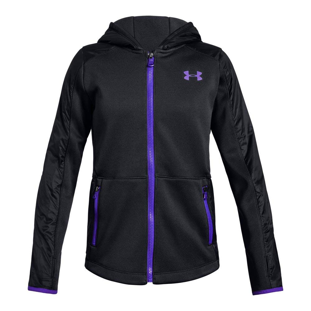 Under Armour Girls Swacket, Black (001), Youth Medium by Under Armour