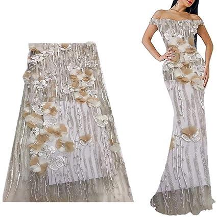 Amazoncom Lace Fabric Laceso 5 Yard Lace Netting Fabric Beaded